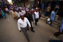 Nepalese celebrating the Ram Nawami festival Royalty Free Stock Photo