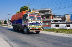 Nepalese colorful truck Royalty Free Stock Photography