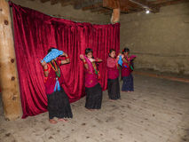 Nepalese Dancers Royalty Free Stock Photography
