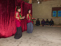 Nepalese Dancers Royalty Free Stock Photos