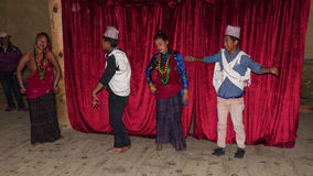 Nepalese Dancers Royalty Free Stock Image