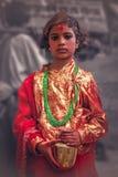 Nepalese deity girl Stock Photo