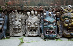 Nepalese Demon Masks Stock Image