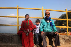 Nepalese family  Stock Image