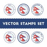 Nepalese flag rubber stamps set. Royalty Free Stock Image