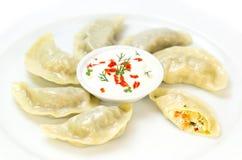 Nepalese food momo Stock Photo