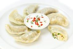 Nepalese food momo Stock Photography