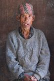 nepalese gammal bonde Arkivbild