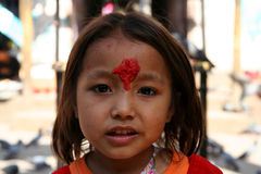 Nepalese girl Stock Images
