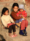 Nepalese girls Stock Photography