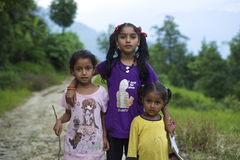 Nepalese Girls Stock Photo