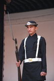 Nepalese guard standing. Royalty Free Stock Photos
