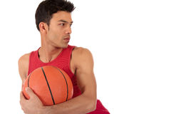 Nepalese man basketball player Royalty Free Stock Photo
