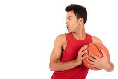 Nepalese man basketball player Royalty Free Stock Images