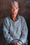 Nepalese man in Bhaktapur Stock Images