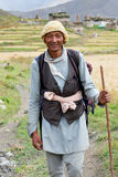 Nepalese man in Dolpo, Nepal Royalty Free Stock Image