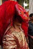 Nepalese man dressed as the Kumari, Durbar Square, Kathmandu, Ne Stock Images