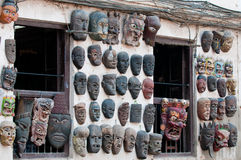 Nepalese masks Royalty Free Stock Photos