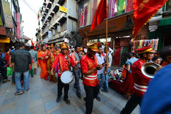 The Nepalese Military Orchestra in Kathmandu, Nepal Stock Image
