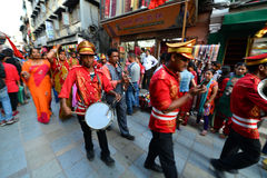 The Nepalese Military Orchestra in Kathmandu, Nepal Stock Images