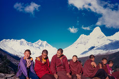 Nepalese monks Stock Photos