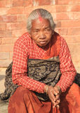 Nepalese old women Royalty Free Stock Photo