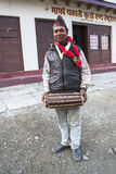 Nepalese during one of the festivals Stock Photography