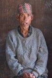 Nepalese oude boer Stock Fotografie