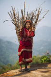Nepalese peasant woman Stock Photography