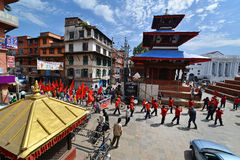 Nepalese people celebrating the Dasain festival in Kathmandu, Ne Stock Photos