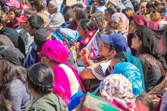 Nepalese People Taking Part at Guinness World Records Event 2018. Kathmandu Nepal -Mar 3,2018: People taking part in the Guinness World Records Event 2018 Stock Image