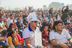 Nepalese People Taking Part at Guinness World Records Event 2018. Kathmandu Nepal -Mar 3,2018: People taking part in the Guinness World Records Event 2018 Stock Images