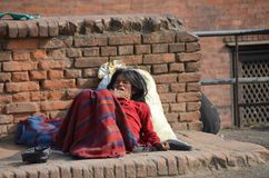 Nepalese poor woman Stock Photo
