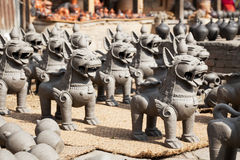 Nepalese Pottery Industry Stock Photo