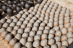 Nepalese Pottery Industry Stock Image