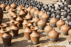 Nepalese Pottery Industry Stock Photography