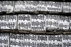 Nepalese prayer Royalty Free Stock Photo