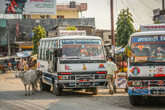 Nepalese public transport Royalty Free Stock Photography