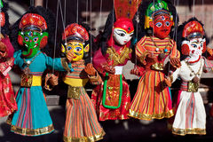 Nepalese puppet show Royalty Free Stock Image