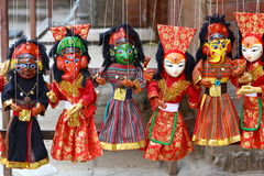 Nepalese puppets Royalty Free Stock Images