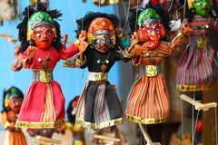 Nepalese puppets Royalty Free Stock Photos