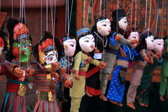 Nepalese puppets in Kathmandu. Royalty Free Stock Photo