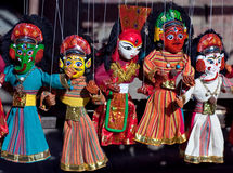 Nepalese puppets - mass product souvenier Royalty Free Stock Photography