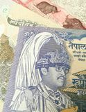 Nepalese rupee, close up of Nepal paper bank note Royalty Free Stock Photos