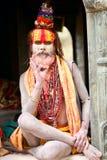 Nepalese sadhu man Royalty Free Stock Images