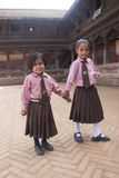 Nepalese schoolgirl Royalty Free Stock Photography