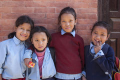 Nepalese schoolgirl Royalty Free Stock Photo