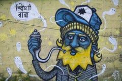 Nepalese Stoner Graffiti Royalty Free Stock Image