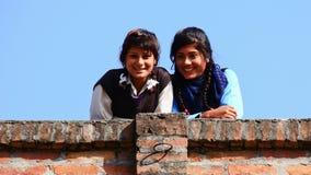 Nepalese studenten royalty-vrije stock afbeelding