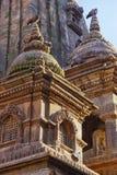 Nepalese tempel op het vierkant van Bhaktapur Durbar Royalty-vrije Stock Foto's